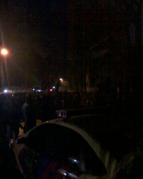 Mobil Polisi dan Demo SBY Berbudi