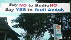 Say No to Boediono, Say Yes to Budi Handuk