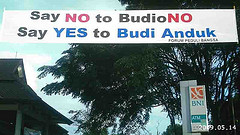 Say No to Boediono, Say Yes to Budi Handuk